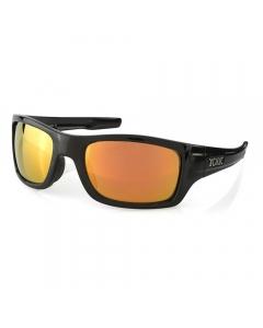 Tonic Trakker Polarized Sunglasses - Shiny Black / Red Mirror