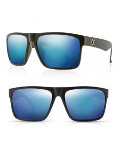 Tonic Outback Polarized Sunglasses - Matte Black / Blue Mirror