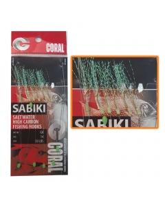 Coral Sabiki Salt Water High Carbon Fishing Hooks Art#G8 (Size: 14)