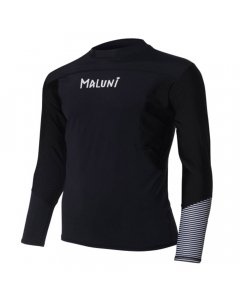 Maluni MLS10 Triple Black Men's Long Sleeve Rashguard