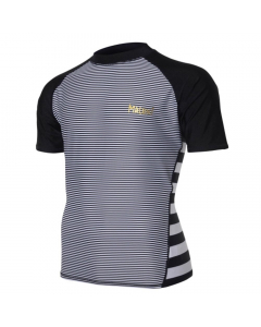 Maluni MLS13 Zebra Men's Short Sleeve Rashguard
