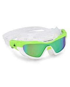 Aqua Sphere Vista Pro Green Mirrored Swimming Goggles - Lime/White