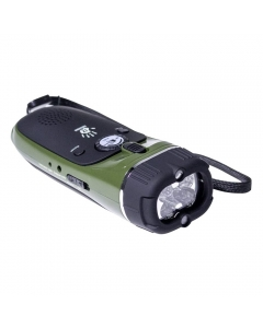 12 Survivors Emergency Hand Crank Radio/Flashlight