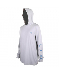 Aftco #M63126 Samurai Sun Protection Hoodie Shirt - Silver Heather