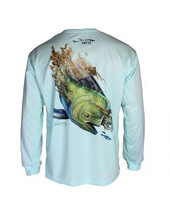 Ahi USA Dorado Sunguard Shirt - Teal (Size: XL)