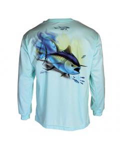 Ahi USA Johnny Tuna Sunguard Shirt - Teal (Size: M)