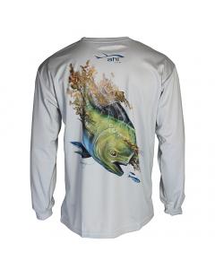 Ahi USA Dorado Sunguard Shirt - Grey (Size: M)