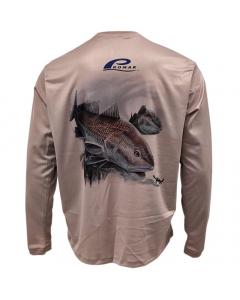Promar Redfish & Blue Crab Sunguard Shirt - Tan