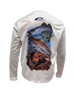 Promar Florida West Coast Sunguard Shirt - Grey (Size: XXL)