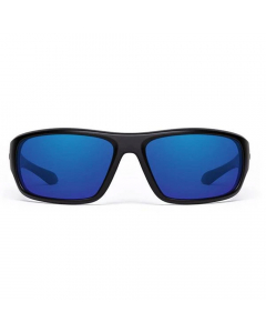 Nines Apache AP014-P Polarized Sunglasses (Matte Black / Gray Lens Deep Blue Mirror)