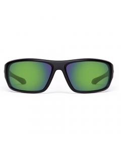 Nines Apache Polarized Sunglasses (Matte Black / Amber Brown Lens Green Mirror)