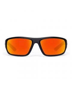 Nines Apache APC005 Polarized Sunglasses (Matte Black / Amber Brown)