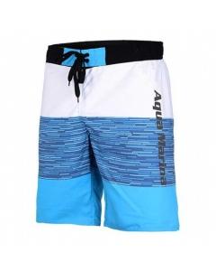 Aqua Marina Division-Printed Men's Board Shorts Blue/White