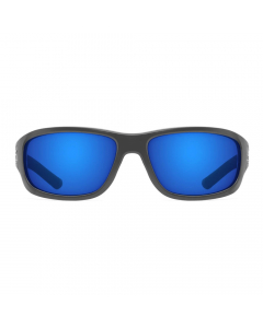 Nines Berryessa Polarized Sunglasses (Matte Black / Gray Lens Deep Blue Mirror)