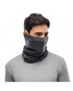 Buff Lightweight Merino Wool Neckwarmer - Solid Grey