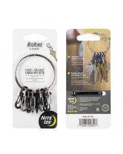 Nite Ize BigRing Steel - S-Biner - Black/Silver