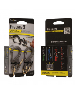 Nite Ize Figure 9 Carabiner Small Black with Rope (Pack of 2)