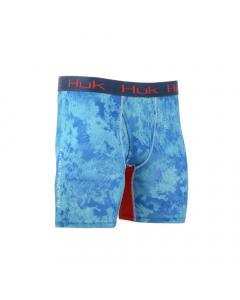 HUK Camo Boxer Jock - Camo Blue/Turquoise