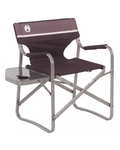 Coleman Aluminum Deck Chair with Side Table