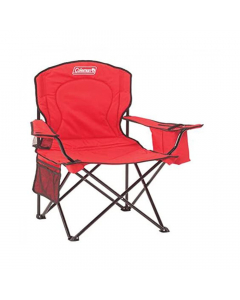 Coleman Adult Quad Chair with Cooler - Red