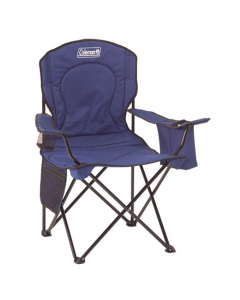 Coleman Adult Quad Chair with Cooler - Blue