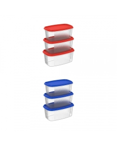 Cosmoplast Oval Food Storage Containers Pack