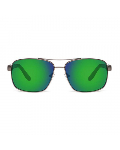 Nines Delta DE085-P Polarized Sunglasses (Amber Brown Lens Green Mirror)