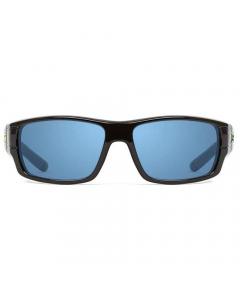 Nines Douglas Polarized Sunglasses (Glossy Black / Copper Lens Light Blue Mirror)