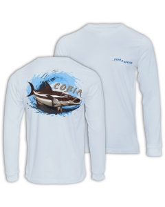 Fish2spear Long Sleeve Performance Shirt Cobia - Off White (Size: M)