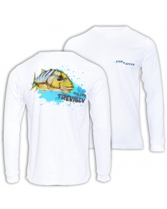 Fish2spear Long Sleeve Performance Shirt - Golden Trevally