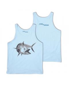 Fish2spear Jersey Tank Top - Kingfish, Blue
