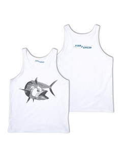 Fish2spear Jersey Tank Top - Kingfish, White