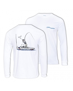 Fish2spear Long Sleeve Performance Shirt - Kayak Fishing Addict, White