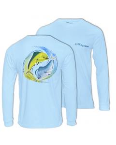 Fish2spear Long Sleeve Performance Shirt - Mahi Mahi, Blue