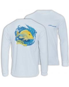Fish2spear Long Sleeve Performance Shirt - Spangled Emperor / Sheri - Off White