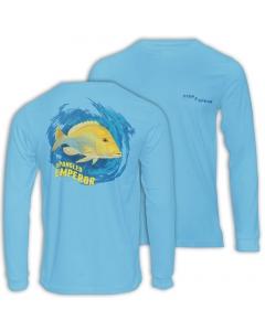 Fish2spear Long Sleeve Performance Shirt - Spangled Emperor / Sheri - Blue