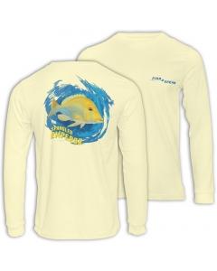 Fish2spear Long Sleeve Performance Shirt - Spangled Emperor / Sheri - Creme