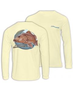 Fish2spear Long Sleeve Performance Shirt - Mangrove Snapper