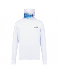 Fly Lord Barracuda Long Sleeve Casting Shirt with Mask (White)