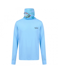 Fly Lord Permit Long Sleeve Casting Shirt (Blue) with Mask
