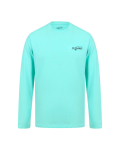 Fly Lord Turquoise Long Sleeve Bamboo T-Shirt