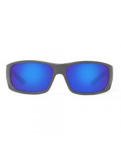 Nines Fork FR134-P Polarized Sunglasses (Matte Gray / Gray Lens Deep Blue Mirror)