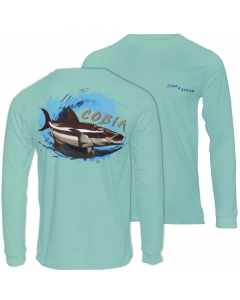 Fish2spear Long Sleeve Performance Shirt Cobia's - Green