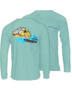 Fish2spear Long Sleeve Performance Shirt - Golden Trevally, Green