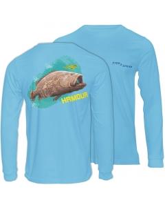 Fish2spear Long Sleeve Performance Shirt - Grouper / Hamour, Blue