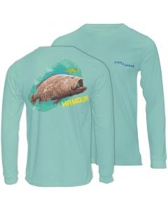 Fish2spear Long Sleeve Performance Shirt - Grouper / Hamour, Green