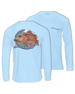 Fish2spear Long Sleeve Performance Shirt - Mangrove Snapper, Blue