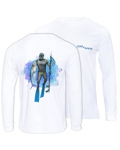 Fish2spear Long Sleeve Performance Shirt - Speared King Fish