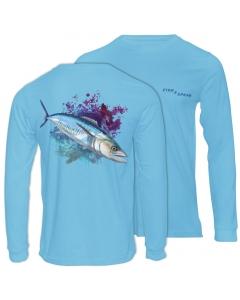 Fish2spear Long Sleeve Performance Shirt - Spanish Mackerel / King fish, Blue