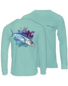 Fish2spear Long Sleeve Performance Shirt - Spanish Mackerel / King fish, Green